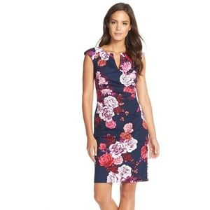 Adrianna Papell Floral Brocade Dress